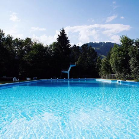 Gstaad Palace Outdoor Pool